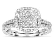 Infinitely Yours 10kt 1cttw  Diamond Bridal Set at Sears.com