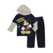 Disney Baby Mickey Mouse Infant & Toddler Boy's Hooded Shirt & Jeans at Sears.com