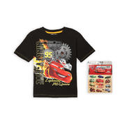 Disney Cars Boy's Graphic T-Shirt & Stickers - Lightning McQueen at Sears.com