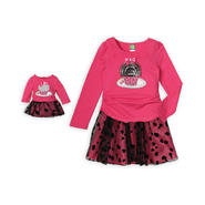 Dollie & Me Girl's Top, Scooter & Doll Outfit - Sequin Cupcake at Sears.com