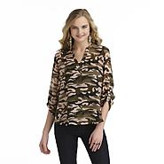 Bongo Junior's V-Neck Blouse - Camouflage at Sears.com