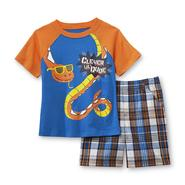 Toughskins Infant & Toddler Boy's Graphic T-Shirt & Plaid Shorts - Snake at Sears.com