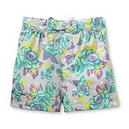 Toughskins Infant & Toddler Girl's Cuffed Poplin Shorts - Floral at Sears.com