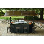 Ty Pennington Style Sunset Beach Hardtop Grill Gazebo Bar with Post Lights and Stools at Sears.com
