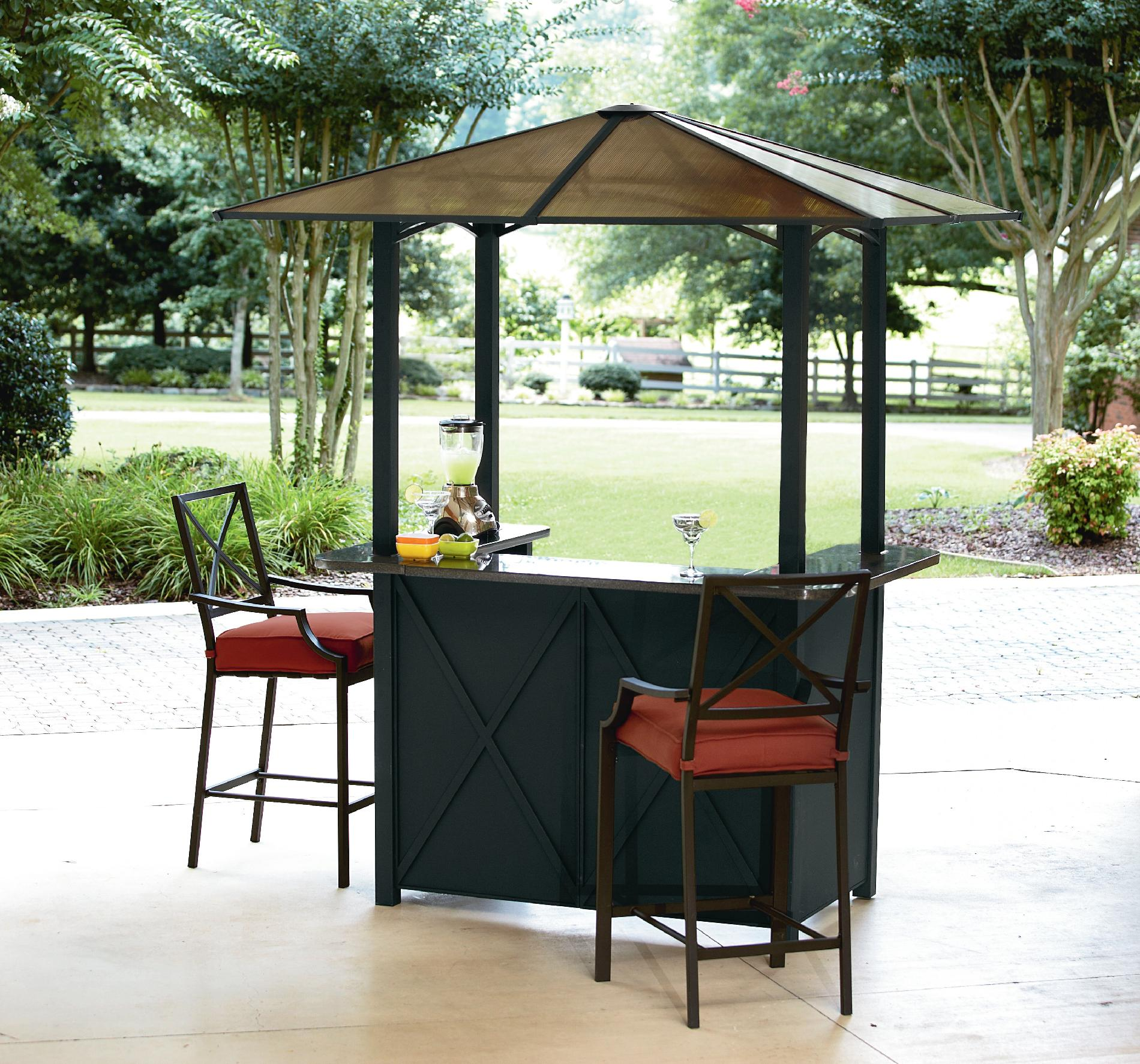 Ty Pennington Style Sunset Beach Hardtop Bar With 2 Bar Chairs Outdoor Living Patio