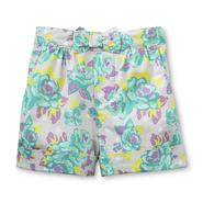 Toughskins Girl's Cuffed Poplin Shorts - Floral at Sears.com