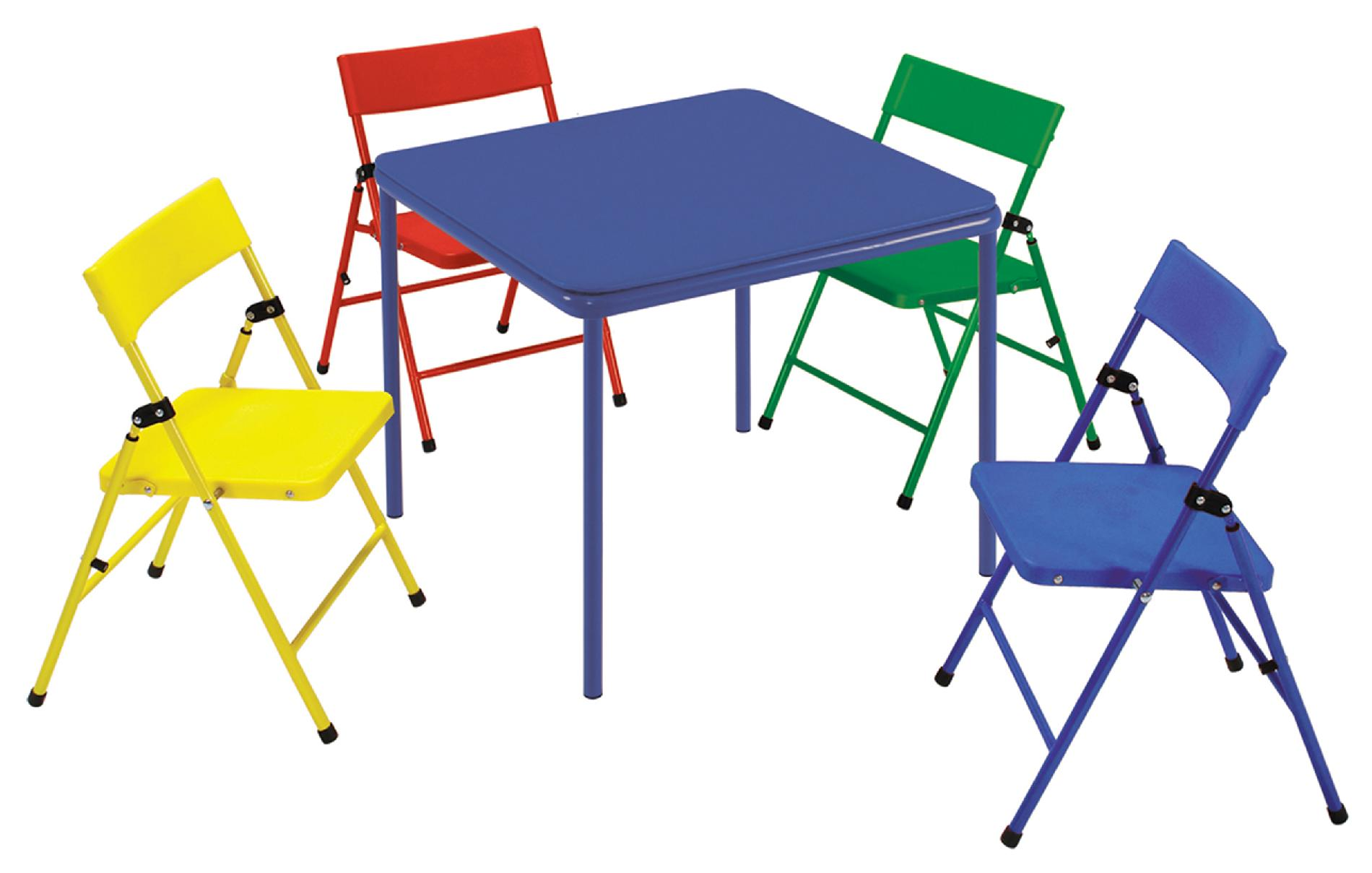 Cosco Home and Office Products Kid's 5 Piece Folding Chair and Table Set