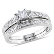 1/3 cttw. Bridal Ring Set in 10k White Gold at Sears.com