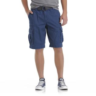Roebuck & Co. Men's Belted Twill Cargo Shorts