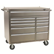 Viper Tool Storage PRO 41-Inch 11 Drawer Rolling Cabinet, 304 Stainless Steel at Sears.com