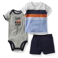 Carter's Newborn Boy's Bodysuit, Shirt & Shorts - Stripes at Sears.com
