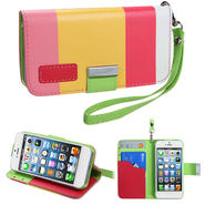 KTA 233 Soft PU leather case with wrist band-colorful Pink at Kmart.com