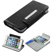 KTA 227 Black PU leather case with magnetic clip at Kmart.com