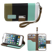 KTA 211 Soft PU leather case with wrist band-colorful black at Kmart.com