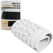 SoundLogic Roll-up Portable Flexible Bluetooth Keyboard - White at Kmart.com