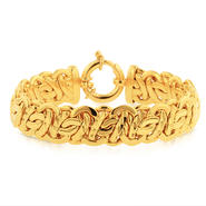 Romanza Gold over bronze extra large byzantine bracelet at Sears.com