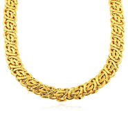 Romanza Gold over bronze extra large byzantine necklace at Sears.com