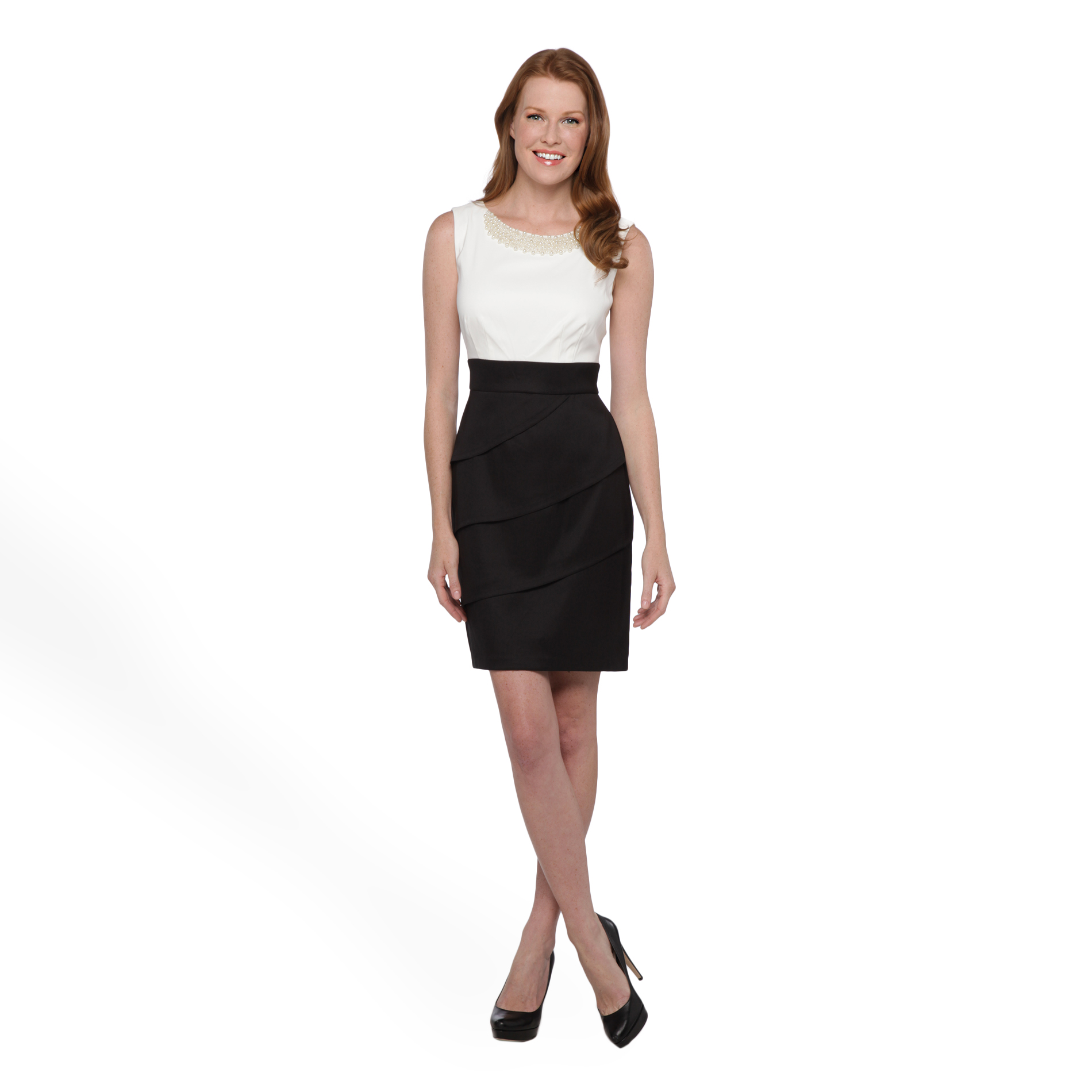 Connected Apparel Women's Beaded Sleeveless Dress at Sears.com