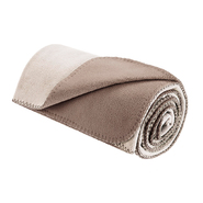 Premier Comfort Reversible Micro Fleece Throw in Ivory /Taupe at Kmart.com