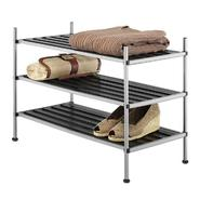Essential Home Gray/Black Metal 3-Tier Shelf Unit at Kmart.com