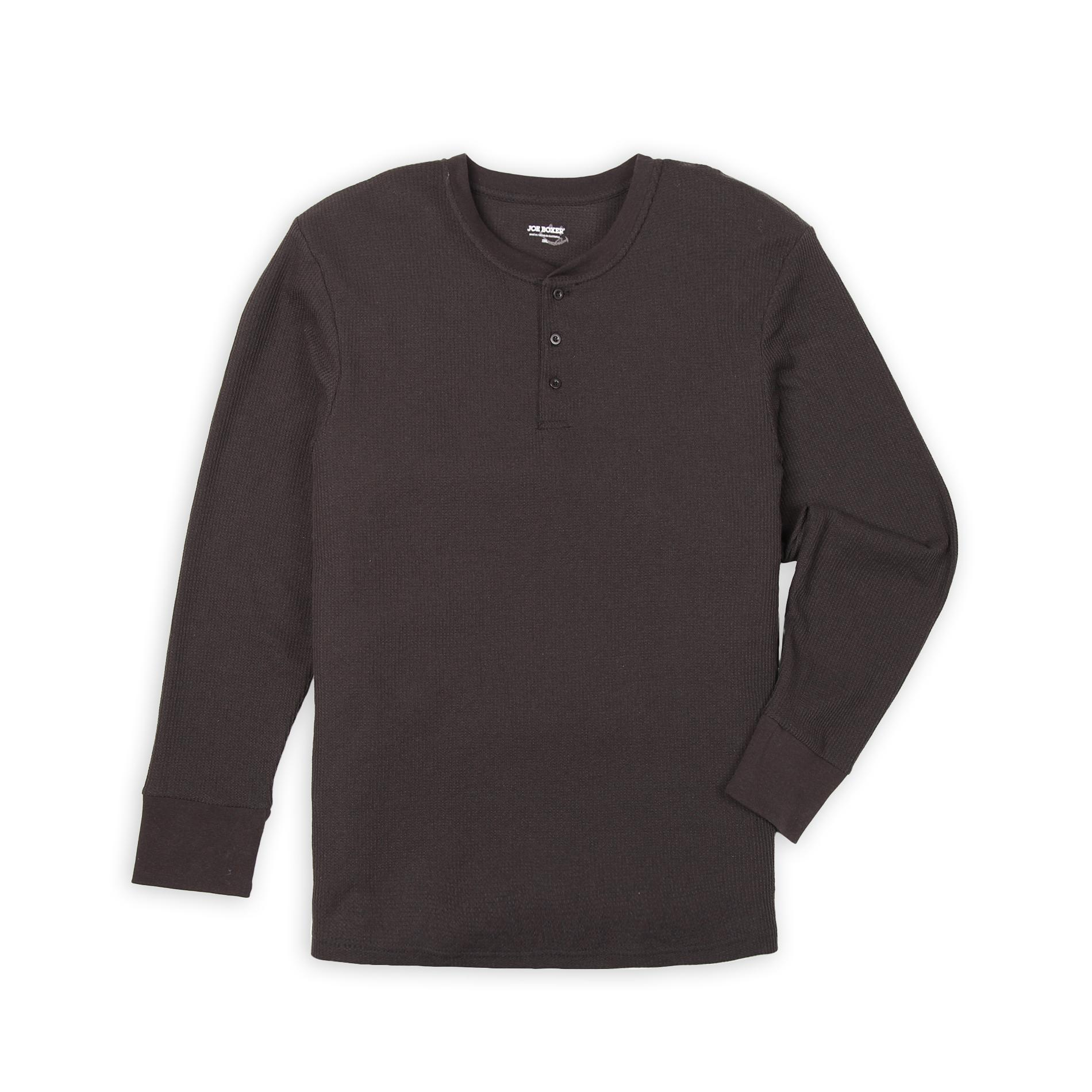Men's Big & Tall Thermal Henley Shirt