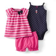 Carter's Newborn & Infant Girl's Bodysuit, Top & Diaper Cover - Ice Cream at Sears.com
