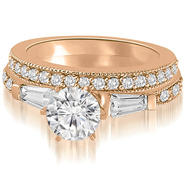 AMCOR 1.70 cttw. 14K Rose Gold Round And Baguette Cut Diamond Bridal Set (I1, H-I) at Kmart.com