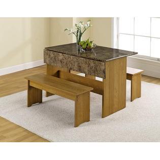 Sauder Trestle Table Highland Oak Finish 2