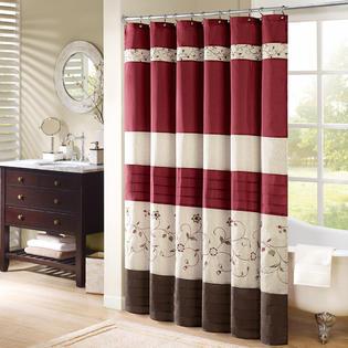 Madison Classics Monroe Polyester Shower Curtain