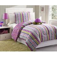 Furry Friends Turtle Stripe Purple Twin Comforter Set at Sears.com