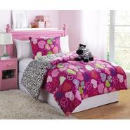 Furry Friends Three-piece Twin Zebra-Peace-Heart Comforter Set at Kmart.com