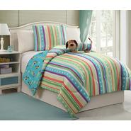 Furry Friends 3-Piece Striped Girl's Puppy Twin-Size Bedding Set at Kmart.com