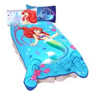 Disney Aquatic Blue Girls' Little Mermaid Twin-size Throw Blanket at Kmart.com