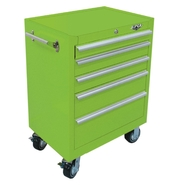 "Viper Tool Storage 26"" 5 Drawer 18G Steel Rolling Cabinet, Lime Green at Sears.com"