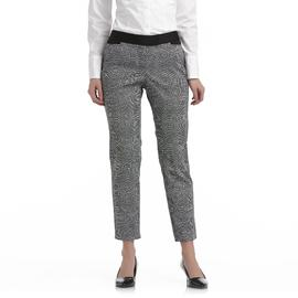 Attention Women's Slim Fit Ankle Pants - Wavy Check at Kmart.com