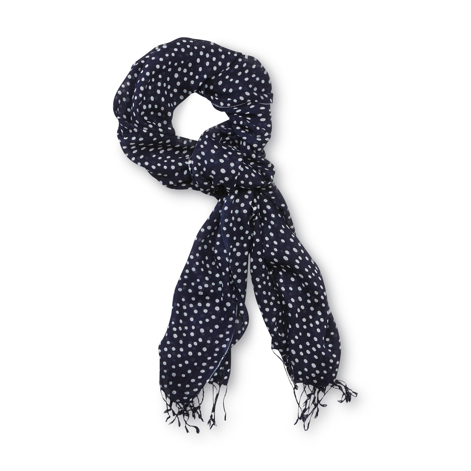 Women's Fashion Scarf - Polka Dot