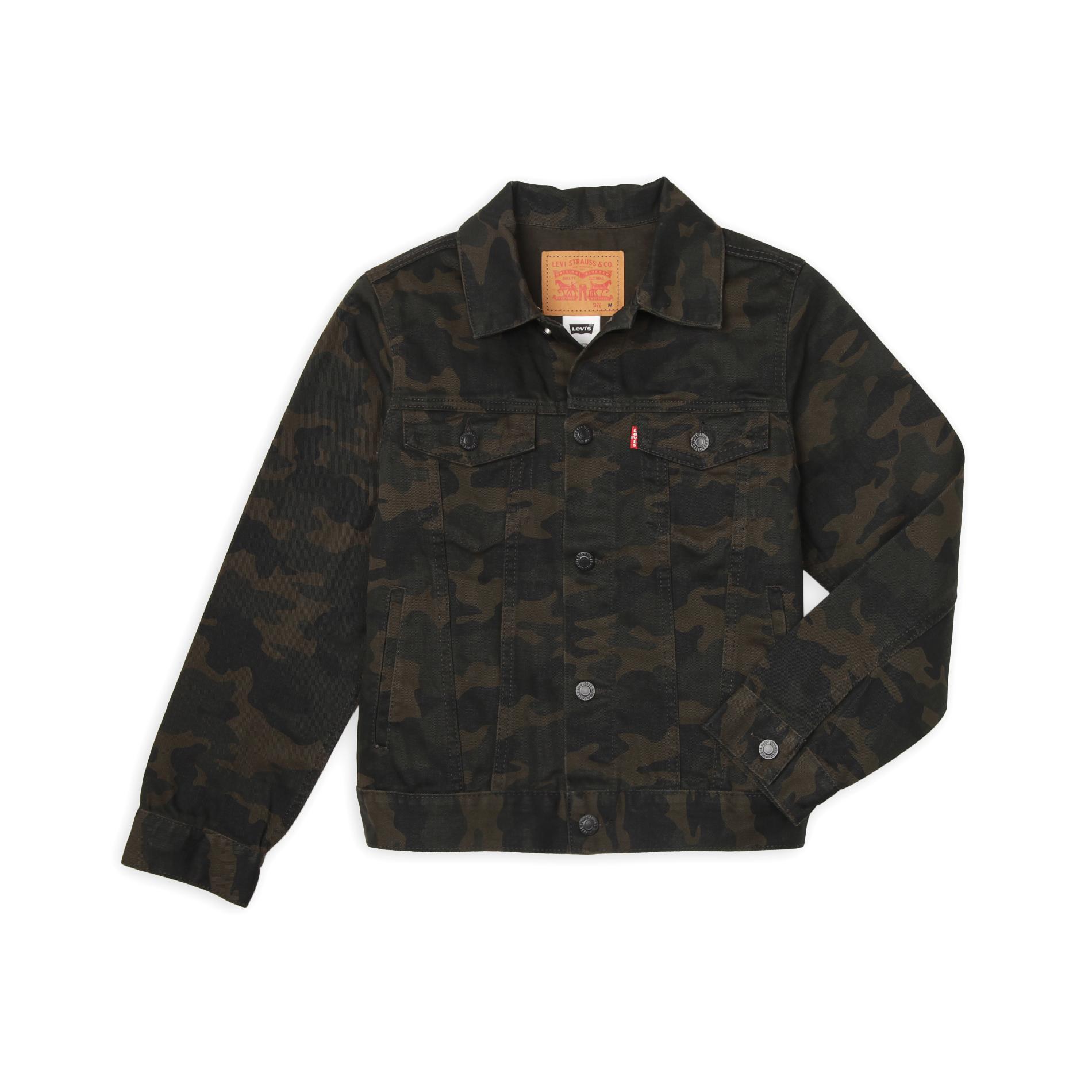 Levi S Boy S Trucker Jacket Camouflage