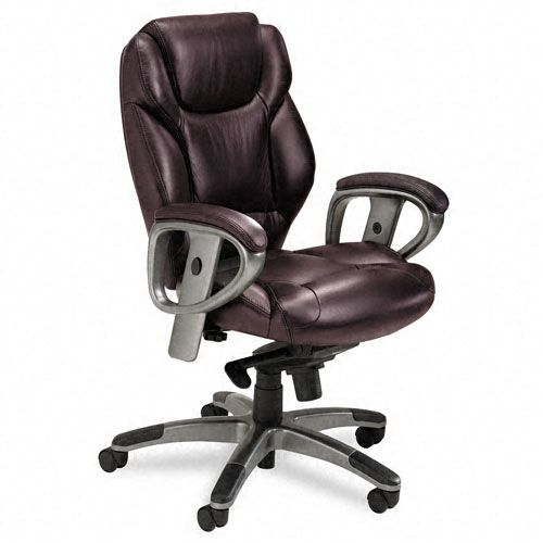 300 Series Leather Mid Back Swivel/Tilt Chair