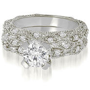 AMCOR 2.11 Cttw Round-Cut 18K White Gold Diamond Bridal Set at Kmart.com