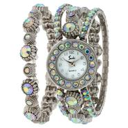 Ladies Silver Stretch Bracelet And Watch Set at Sears.com
