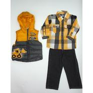 Little Rebels Infant & Toddler Boy's Puffer Vest, Shirt & Jeans - Construction at Sears.com