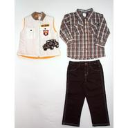 Little Rebels Infant & Toddler Boy's Quilted Vest, Shirt & Jeans - Jeep at Sears.com