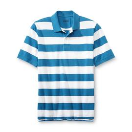 Basic Editions Men's Pique Polo Shirt - Stripe at Kmart.com