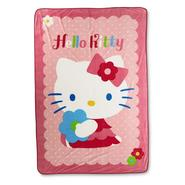 Hello Kitty Girl's Micro Raschel Blanket - Daisy Diva at Kmart.com