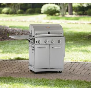 Kenmore Stainless Steel 4 Burner Gas Grill With Folding