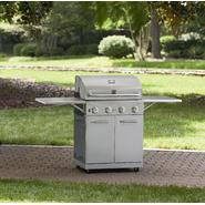 Kenmore Stainless Steel 4 Burner Gas Grill With Folding Side Shelves and lit knobs at Kmart.com