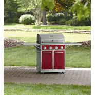 Kenmore Red 4 Burner Gas Grill With Folding Side Shelves and lit knobs at Kmart.com