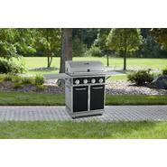 Kenmore Black 4 Burner Gas Grill With Folding Side Shelves and lit knobs at Sears.com