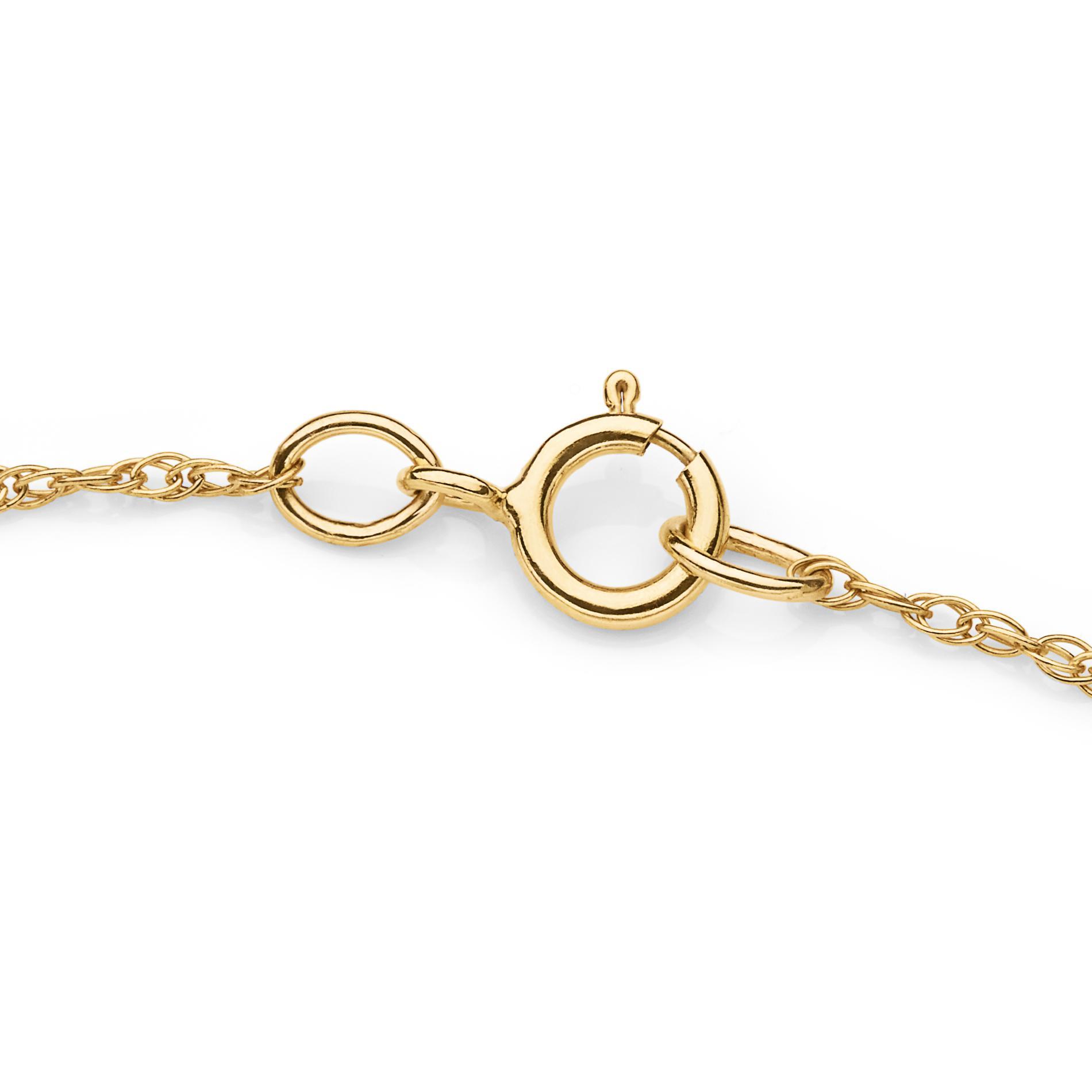 Girl's 10K Gold Cubic Zirconia Angel Pendant Necklace