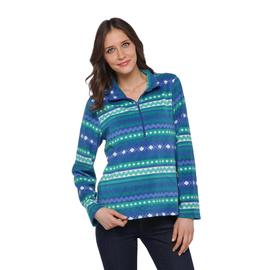 Laura Scott Women's Fleece Jacket - Aztec at Sears.com